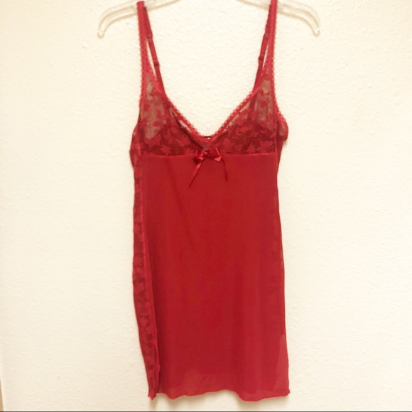 96d1816982bb Intimissimi Intimates & Sleepwear | Red Lace Slip Dress Nightdown ...